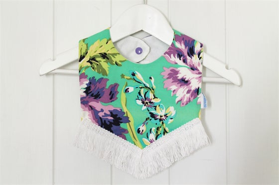 Image of Boho Bib - Mint Floral