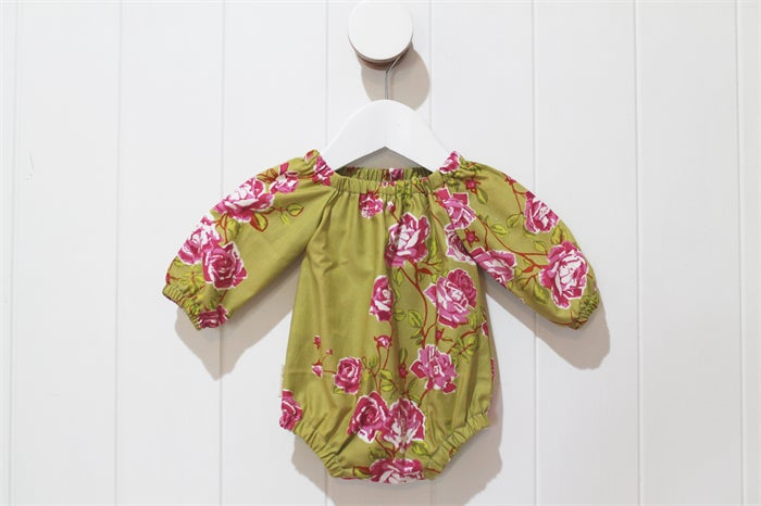 Image of Long Sleeved Romper - Autumn Rose