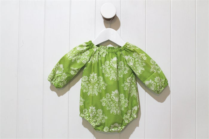 Image of Long Sleeve Romper - Green Wallpaper