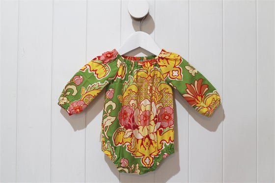 Image of Long Sleeve Romper - Bohemian Flower