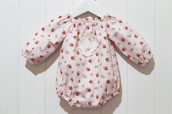 Image of Long Sleeve Playsuit - Pretty in Pink
