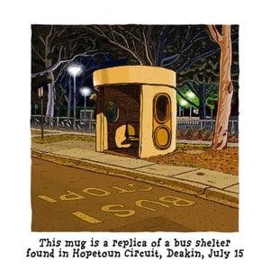 Image of BUS STOP AT NIGHT MUG