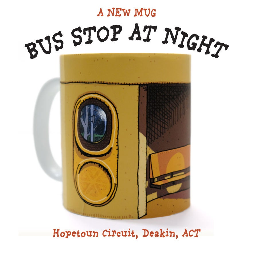 Image of BUS STOP AT NIGHT MUG