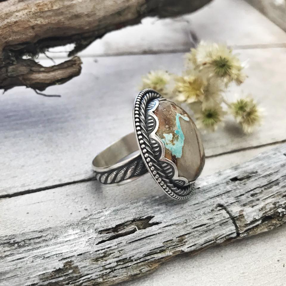 Image of Royston Ribbon Turquoise Ring