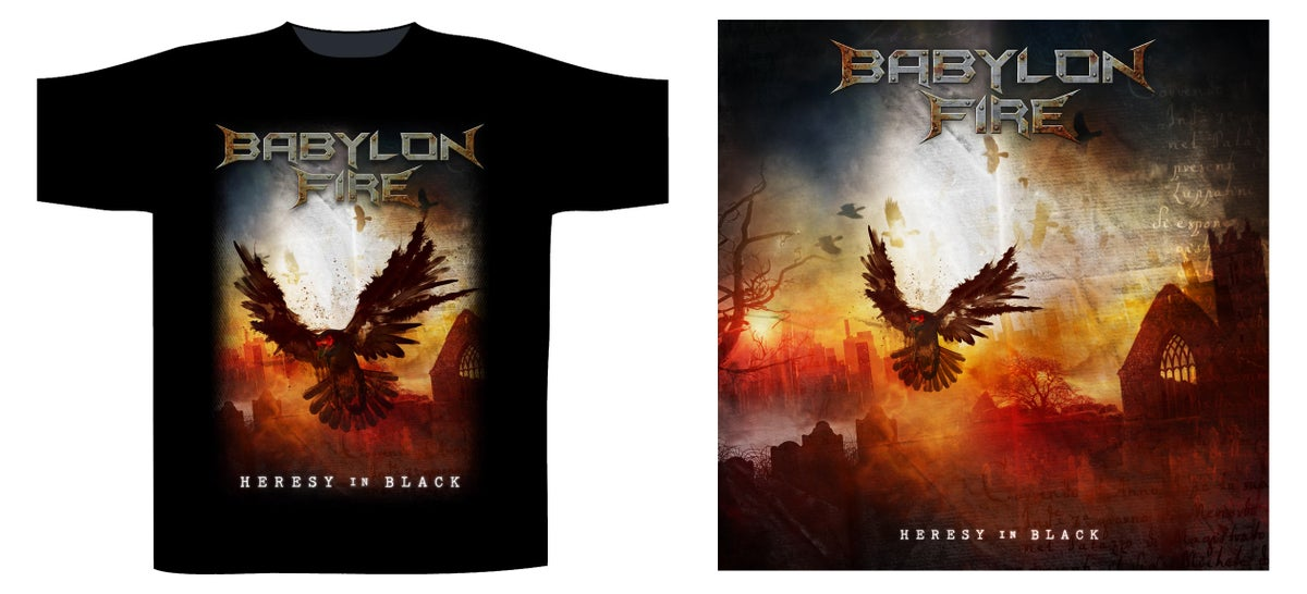 Image of HERESY IN BLACK CD & T SHIRT BUNDLE
