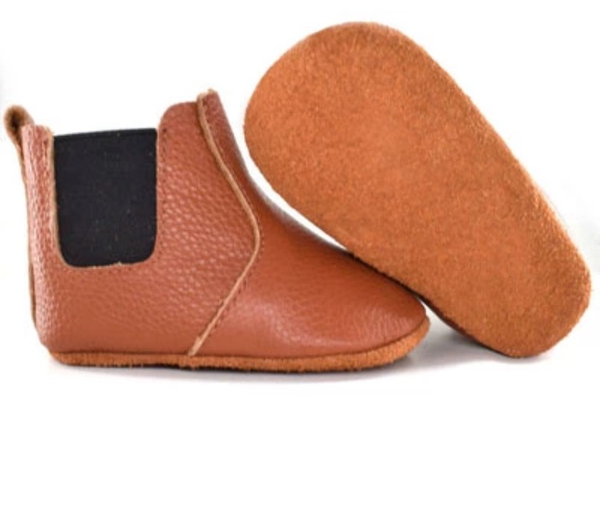 Image of Boots cuir camel