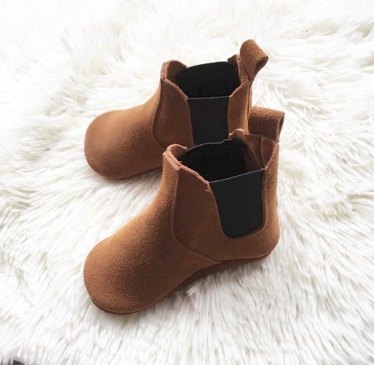 Image of Boot en daim camel