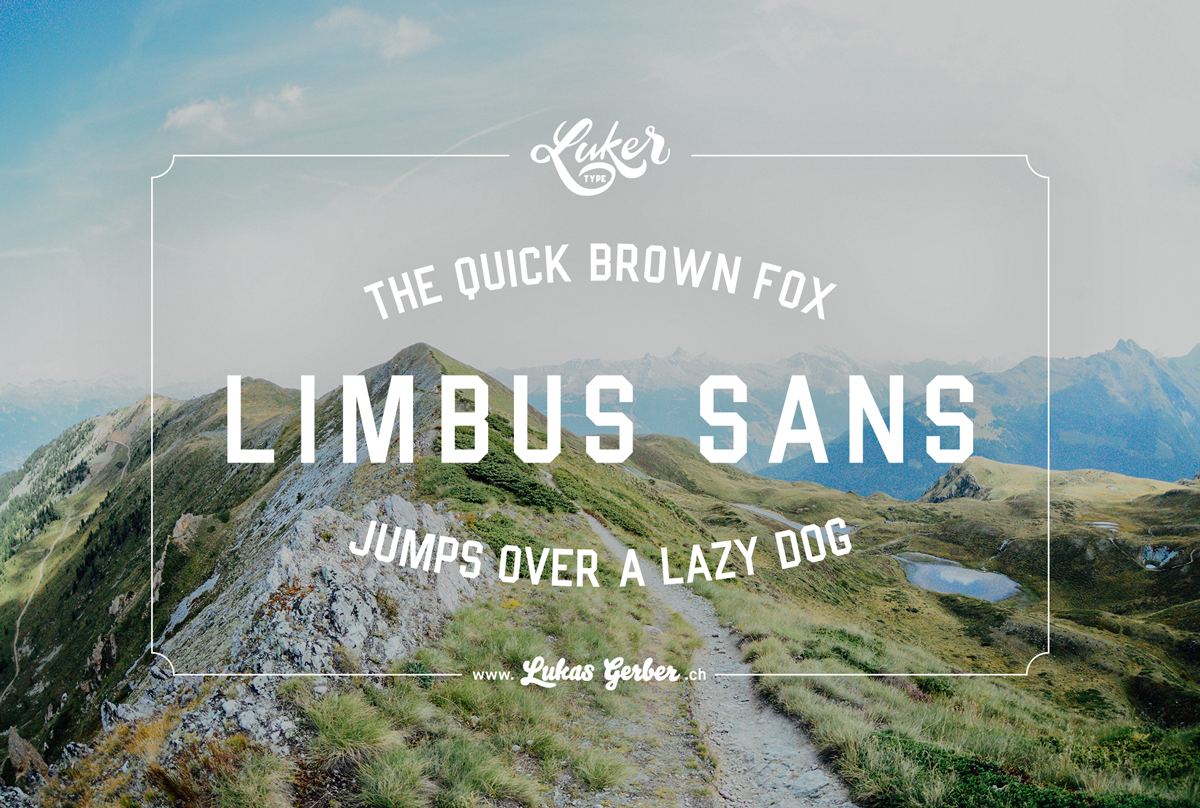 Image of «Limbus Sans» Typeface – Licence for commercial use