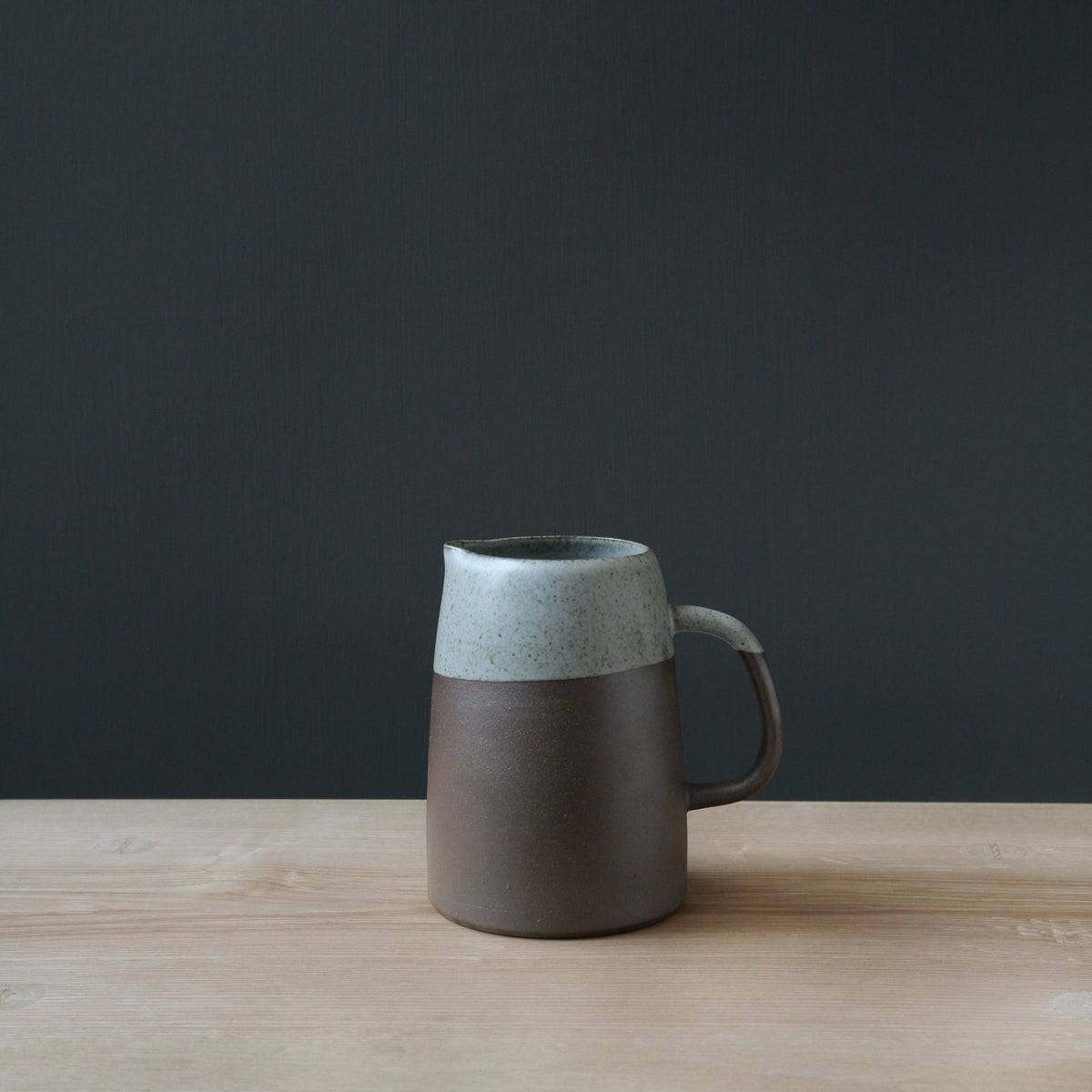 Image of Large Brown & Speckled Jug by Elaine Bolt