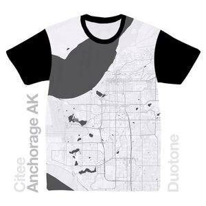 Image of Anchorage AK map t-shirt
