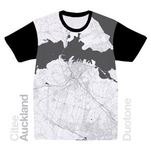 Image of Auckland map t-shirt