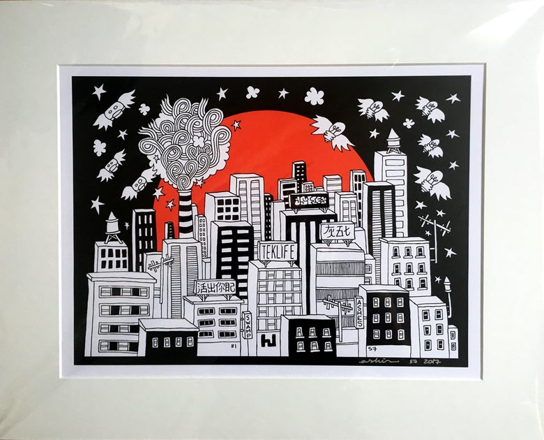 Image of Downtown 2017 print