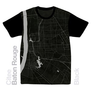 Image of Baton Rouge LA map t-shirt