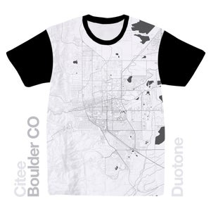 Image of Boulder CO map t-shirt