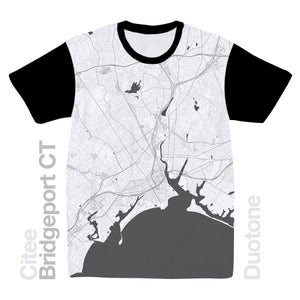 Image of Bridgeport CT map t-shirt