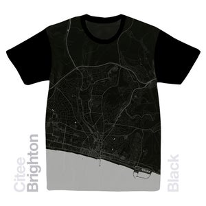 Image of Brighton map t-shirt