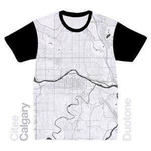 Image of Calgary map t-shirt