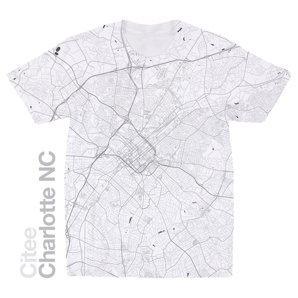 Citee Fashion | Charlotte NC map t-shirt