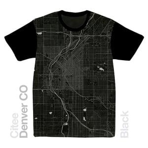 Image of Denver CO map t-shirt