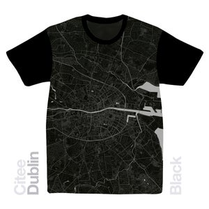Image of Dublin map t-shirt