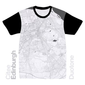 Image of Edinburgh map t-shirt