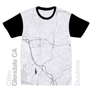 Image of Glendale CA map t-shirt