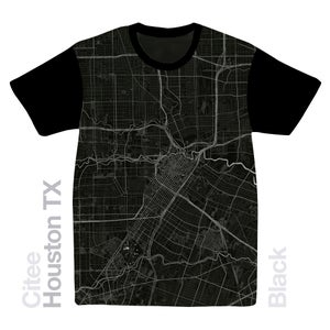 Image of Houston TX map t-shirt