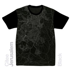 Image of Jerusalem map t-shirt