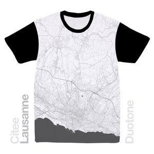 Image of Lausanne map t-shirt