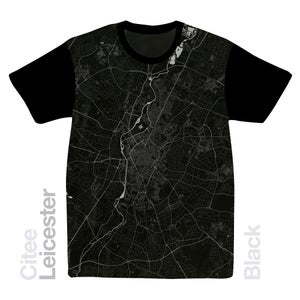 Image of Leicester map t-shirt