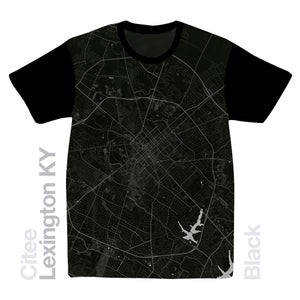 Image of Lexington KY map t-shirt