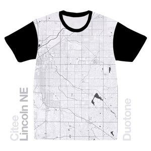Image of Lincoln NE map t-shirt