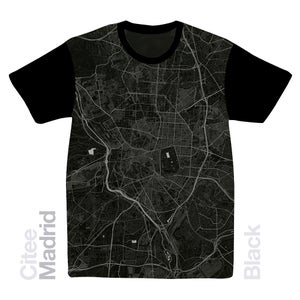 Image of Madrid map t-shirt