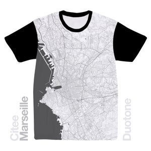 Image of Marseille map t-shirt