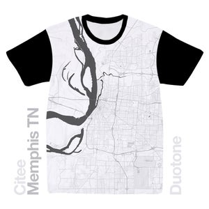 Image of Memphis TN map t-shirt