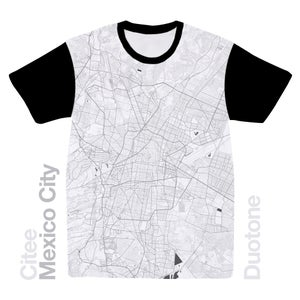 Image of Mexico City map t-shirt