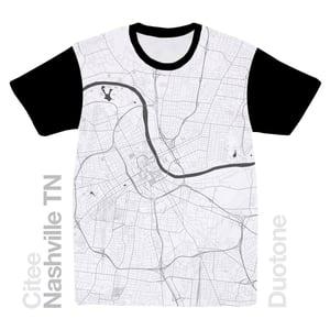 Image of Nashville TN map t-shirt