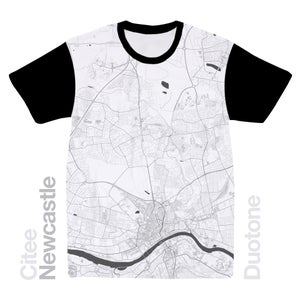 Image of Newcastle map t-shirt