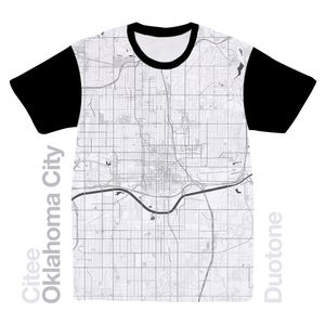 Image of Oklahoma City OK map t-shirt