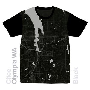 Image of Olympia WA map t-shirt