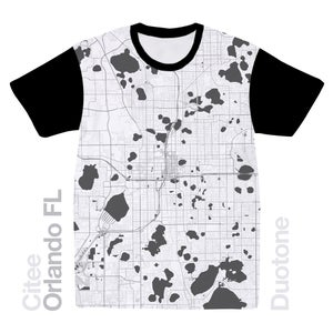 Image of Orlando FL map t-shirt