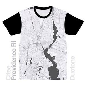 Image of Providence RI map t-shirt