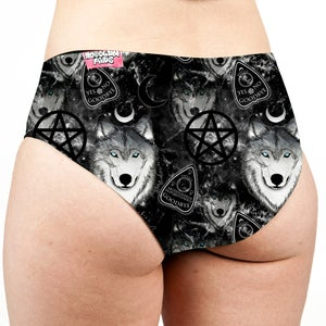 Image of Spirit Wolf Low Rise Cheeky Shorts