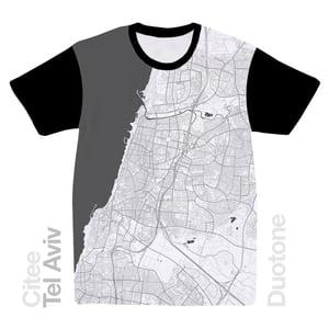 Image of Tel Aviv map t-shirt