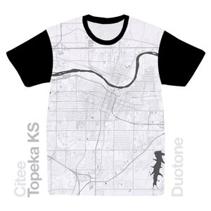 Image of Topeka KS map t-shirt