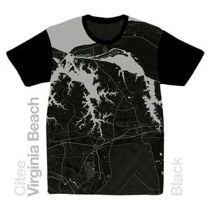 Image of Virginia Beach VA map t-shirt
