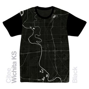 Image of Wichita KS map t-shirt