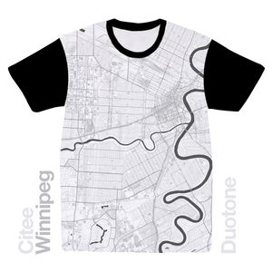 Image of Winnipeg map t-shirt