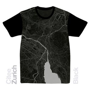Image of Zürich map t-shirt