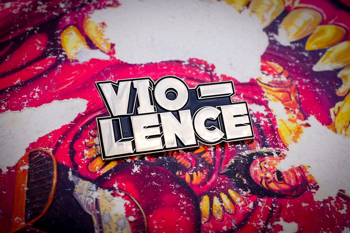 Image of Vio-Lence Logo Enamel Pin